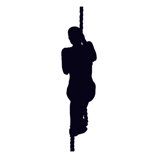 Rope climb crossfit silhouette Transparent PNG