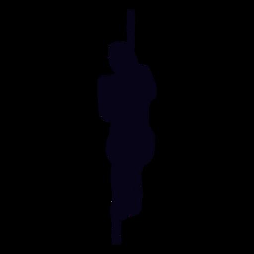 Rope climb crossfit silhouette