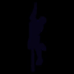 Crossfit silhouette klettern