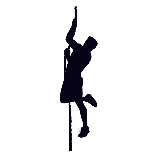 Rope climbing crossfit silhouette Transparent PNG