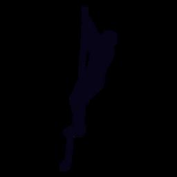 Corda sobe a silhueta crossfit