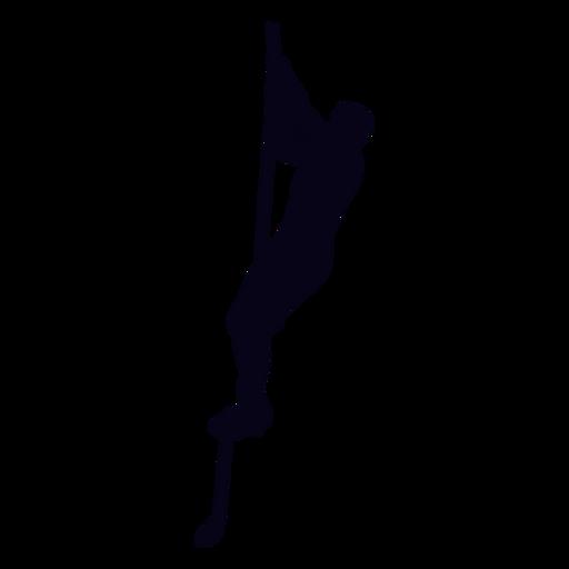 Cuerda sube silueta crossfit Transparent PNG