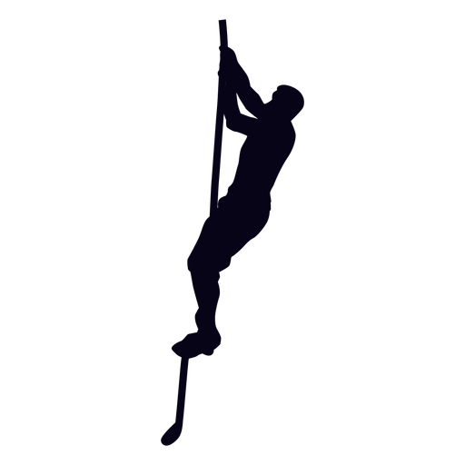 Rope climbs crossfit silhouette Transparent PNG