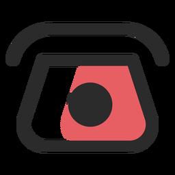 Icono de contacto de teléfono rotativo