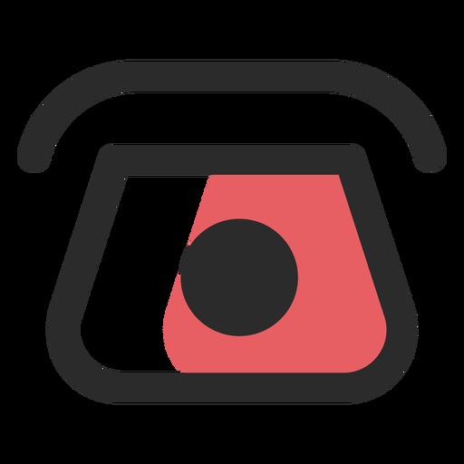 Icono de contacto de teléfono rotatorio