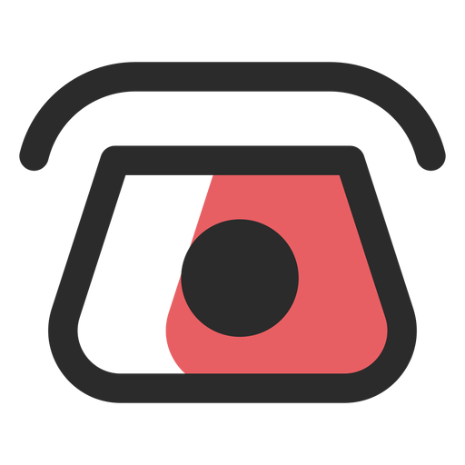 Rotary telephone contact icon Transparent PNG