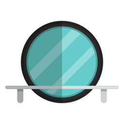 Round bathroom mirror icon