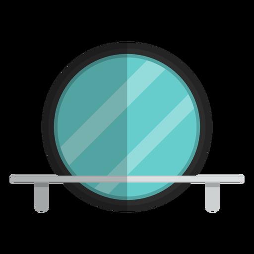 Round bathroom mirror icon