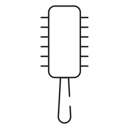 Icono de trazo de pincel de pelo redondo