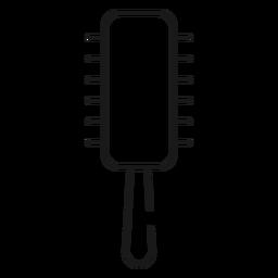 Runde Haarbürste Strich-Symbol