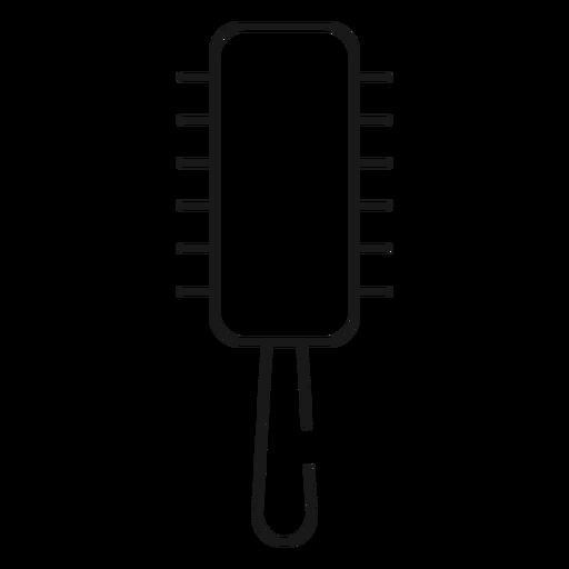 Runde Haarbürste Strich-Symbol Transparent PNG