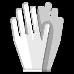 Icono de guantes de goma