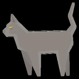 Ilustración geométrica del gato azul ruso