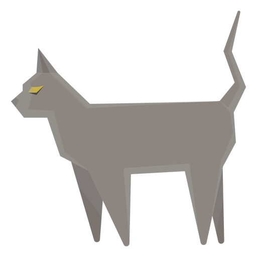 Russian blue cat geometric illustration Transparent PNG