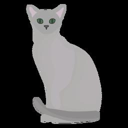 Ilustración de gato azul ruso