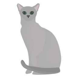 Russian blue cat illustration