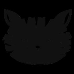 Traurige Katze Hand gezeichneter Avatar