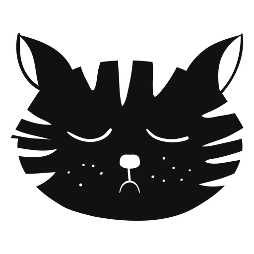Avatar de mão desenhada de gato triste Transparent PNG