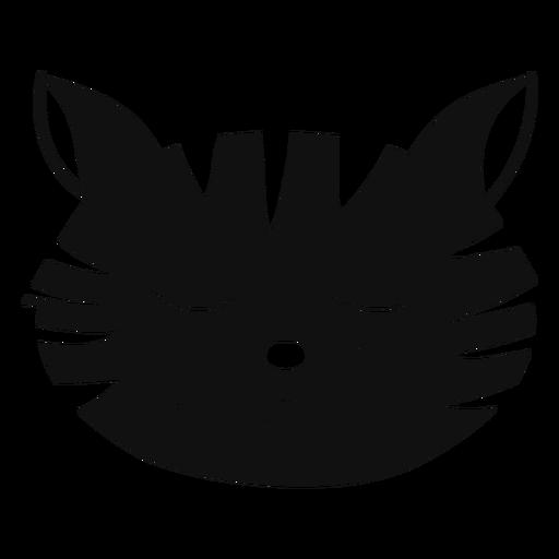 Gato triste dibujado a mano avatar Transparent PNG
