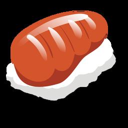 Icono de sushi de salmón sake
