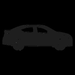 Silueta de vista lateral de coche sedán
