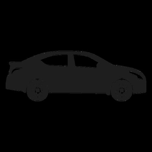 Sedan car side view silhouette