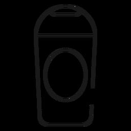 Ícone de traçado de xampu