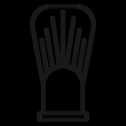 Ícone de traçado de pincel de barba