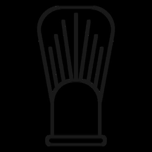 Shave brush stroke icon