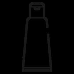 Icono de trazo de crema de afeitar