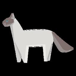 Ilustración geométrica de gato siamés