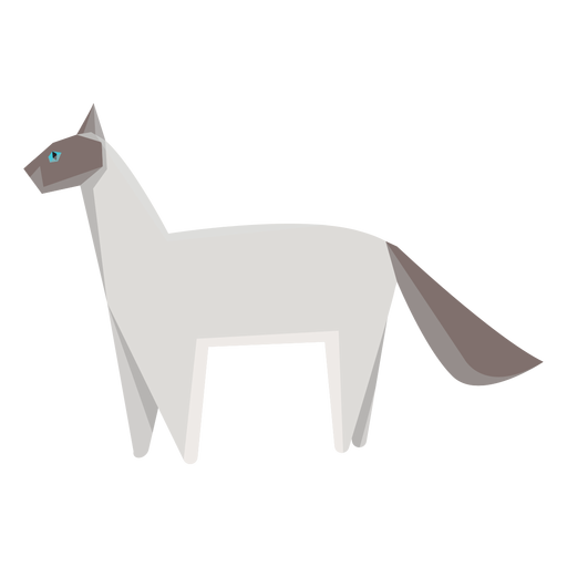 Ilustração geométrica de gato siamês Transparent PNG