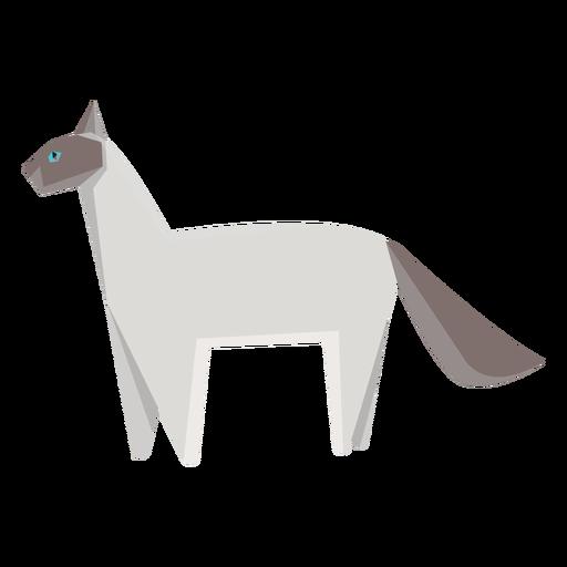 Ilustración geométrica de gato siamés Transparent PNG