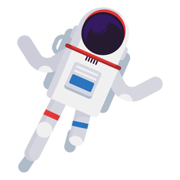 Simplistic astronaut illustration