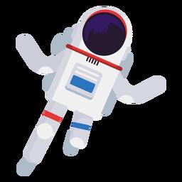 Vereinfachte Astronautenillustration