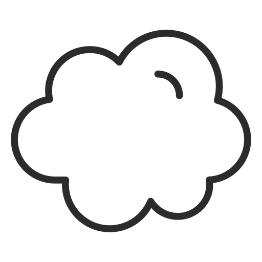 Sky cloud stroke Transparent PNG