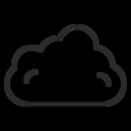 Ícone do curso da nuvem do céu