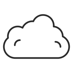 Icono de trazo de nube de cielo