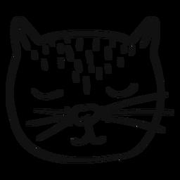 Gezeichneter Avatar der schlafenden Katze Hand