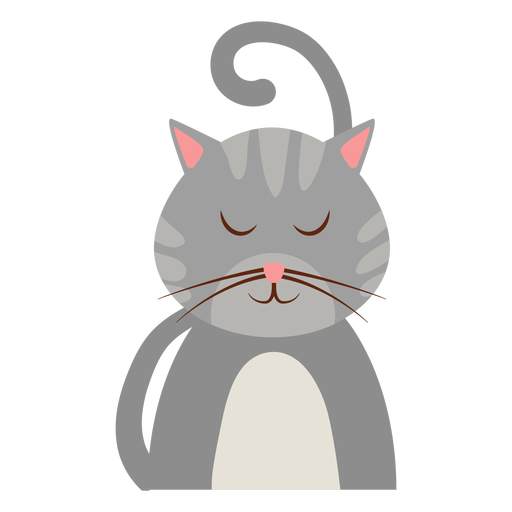 Sleepy cat avatar Transparent PNG