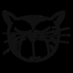 Avatar desenhado à mão gato sonolento