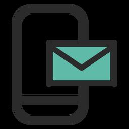 Ícone de contato de email do smartphone