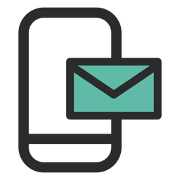 Icono de contacto de correo de teléfono inteligente