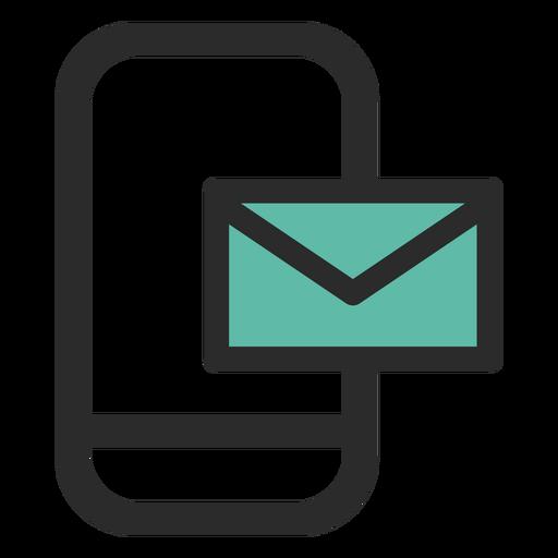 Icono de contacto de correo de teléfono inteligente Transparent PNG