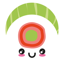 Smile kawaii face sushi icon