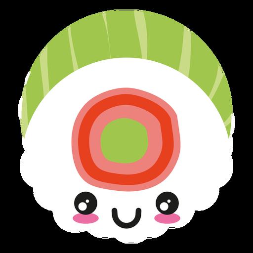 Smile kawaii face sushi icon Transparent PNG
