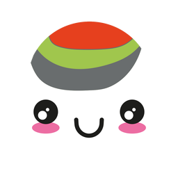 Smile kawaii wasabi sushi roll