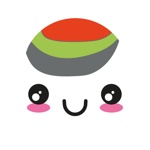 Lächeln Kawaii Wasabi Sushi-Rolle Transparent PNG