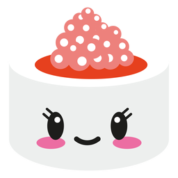 Smiley Kawaii Gesicht Sushi-Rolle