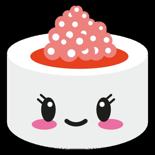 Smiley kawaii face sushi roll